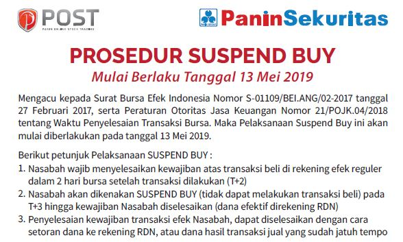Suspend Buy